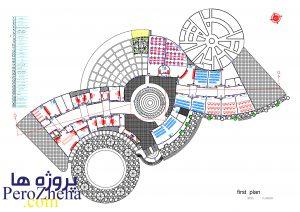 دانلود پلان موزه به همراه تصاویر سه بعدی