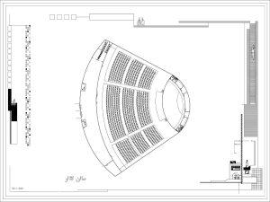 دانلود پلان مرکز هنرهای نمایشی
